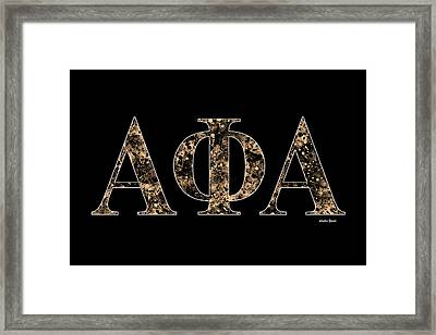 Framed Print featuring the digital art Alpha Phi Alpha - Black by Stephen Younts