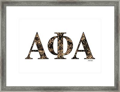 Framed Print featuring the digital art Alpha Phi Alpha - White by Stephen Younts