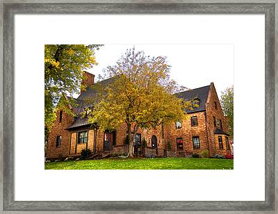 Alpha Tau Omega Fraternity At Washington State University Framed Print by David Patterson