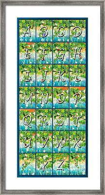Alphabet Nature - Ivy Framed Print
