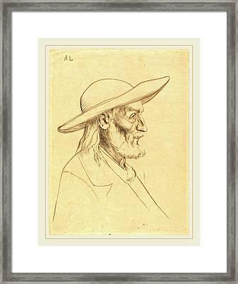 Alphonse Legros, Breton Peasant Paysan Breton Framed Print by Litz Collection