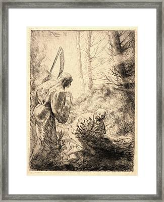 Alphonse Legros French, 1837 - 1911. Death Framed Print by Litz Collection