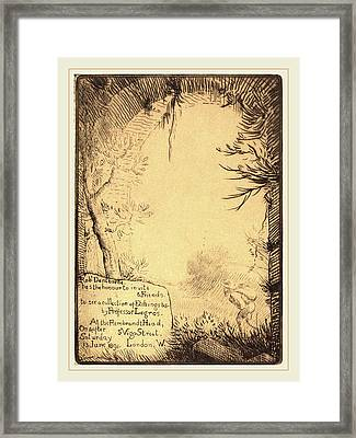 Alphonse Legros, Plate Made For An Exhibition At The Framed Print by Litz Collection