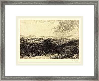 Alphonse Legros, Prospect Le Point De Vue Framed Print by Litz Collection