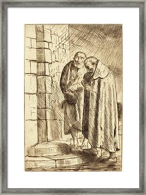 Alphonse Legros, Saint Peter And Saint Paul In The Door Of M Framed Print by Quint Lox