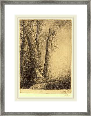 Alphonse Legros, Study For The Prodigal Son Etude Pour Framed Print by Litz Collection