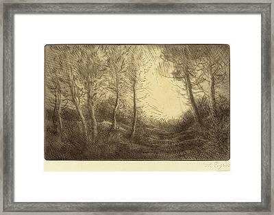 Alphonse Legros, Sunrise, Woods Of Clamard Lever Du Soleil Framed Print by Quint Lox