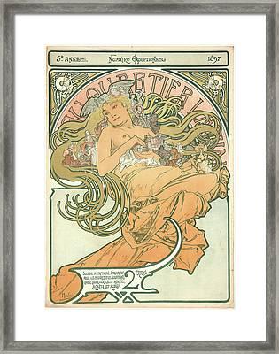 Alphonse Mucha Czech, 1860 - 1939. Au Quartier Latin Framed Print