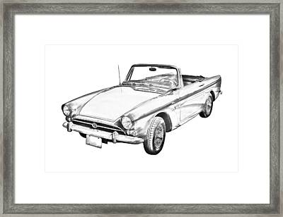 Alpine 5 Sports Car Illustration Framed Print by Keith Webber Jr