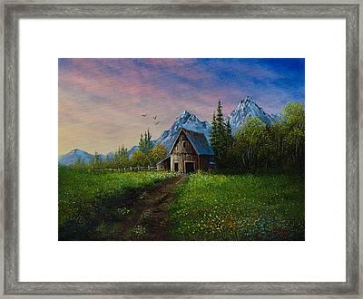 Alpine Barn Framed Print by C Steele