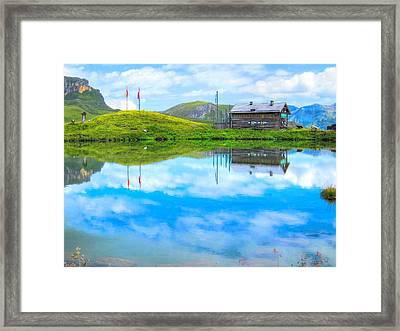 Alpine Blue Framed Print by Andreas Thust