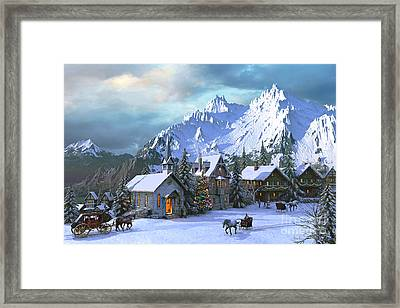 Alpine Christmas Framed Print by Dominic Davison