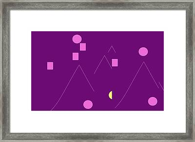 Alpine Climbers At Midnight  Framed Print