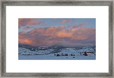 Alpine Glow Over Elk Mountain Meadows Framed Print