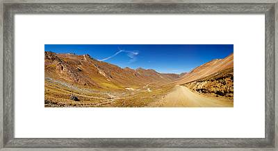 Alpine Loop Scenic Byway Passing Framed Print by Panoramic Images