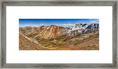 Alpine Loop Scenic Byway Trail Passing Framed Print by Panoramic Images