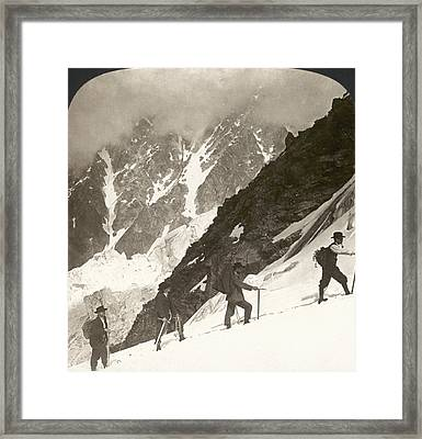Alpine Mountaineering, 1908 Framed Print by Granger
