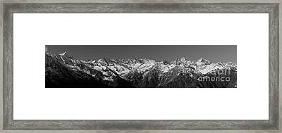 Alpine Peaks And Glaciers Framed Print by Marco Affini