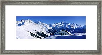 Alpine Scene In Winter, Switzerland Framed Print by Panoramic Images