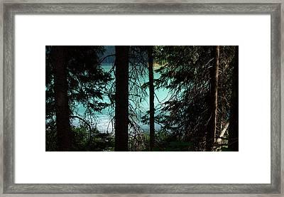 Alpine Stain Glass Framed Print