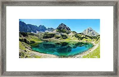 Alpine Summer Lake Framed Print by David Broome