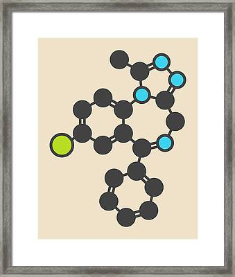 Alprazolam Sedative Drug Molecule Framed Print