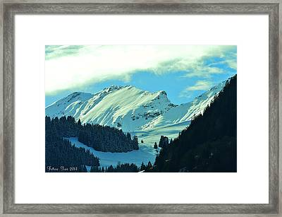 Alps Green Profile Framed Print by Felicia Tica