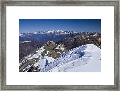 Alps Mountains View Framed Print by Ioan Panaite