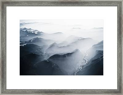 Alps Over Italy Framed Print by Chris Halford
