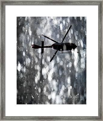 Als Medical Flight Framed Print by Melissa Smith
