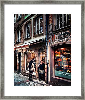 Framed Print featuring the photograph Alsace Slice Of Life by Jim Hill