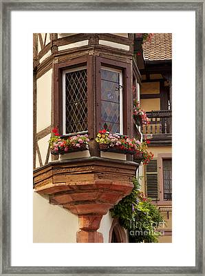 Alsace Window Framed Print by Brian Jannsen