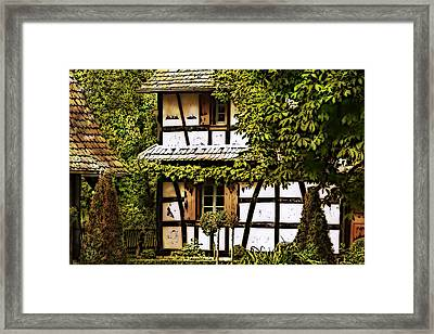 Alsatian Farmhouse Framed Print by Selke Boris
