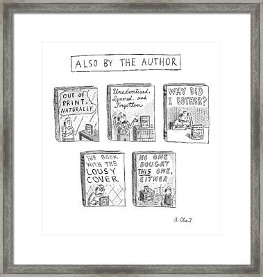 'also By The Author' Framed Print by Roz Chast