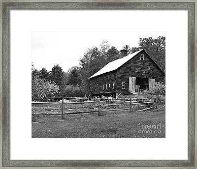 Alstead Barn Framed Print