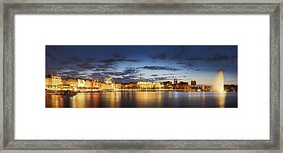 Alsterpanorama Hamburg Framed Print by Marc Huebner