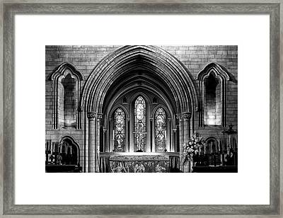 Altar At St Patricks Cathedral - Close Up Framed Print