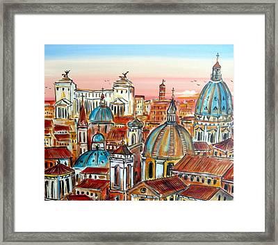 Altare Della Patria In Roma Framed Print