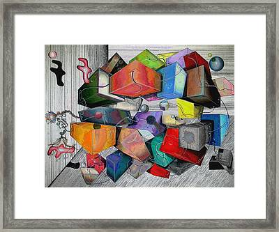 #alteration 1 From 'keeping It Together'  Framed Print by George Curington