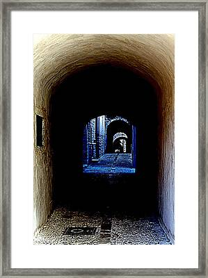 Altered Arch Walkway Framed Print