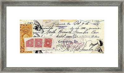 Altered Check 1923 Framed Print by Carol Leigh