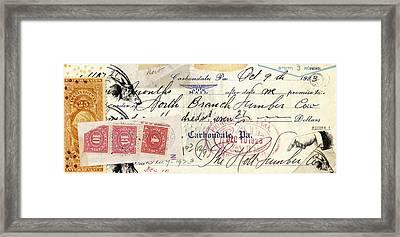 Altered Check 1923 Framed Print