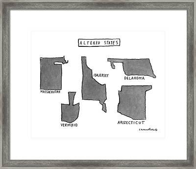 Altered States Framed Print