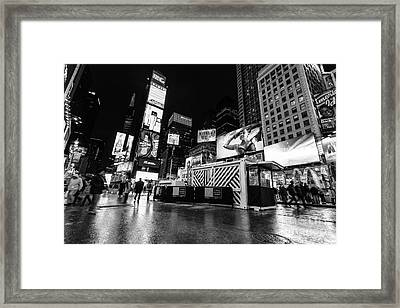 Alternate View Of Times Square  Framed Print by John Farnan