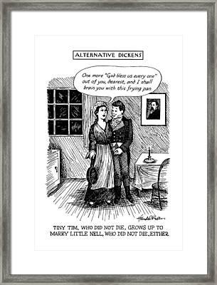 Alternative Dickens Tiny Tim Framed Print