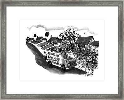 Alternative Lawn Doctor Framed Print by Donald Reilly