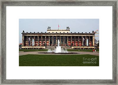 Altes Museum In Berlin Framed Print by John Rizzuto