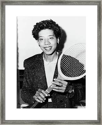 Althea Gibson (1927-2003) Framed Print