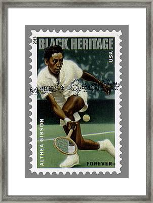 Althea Gibson Postage Stamp Framed Print