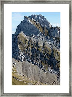 Altmann And Mesozoic Sediments Framed Print by Dr Juerg Alean